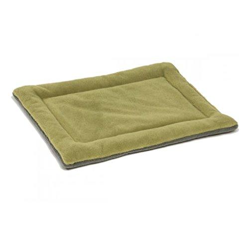 QHGstore Hundebox Mat Kennel Cage Auflage-Bett Fluffy Washabel Spielraum-Haustier-Kissen Grün& L (Mat Hundebox)