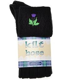 Chaussettes de Kilt avec Motif Brodé de Chardon - Gamme de Couleurs et Pointures