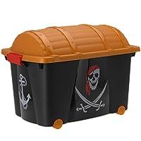 Pirates Treasure Chest Large Kids Boys Bedroom Storage Toy Box Playroom Laundry