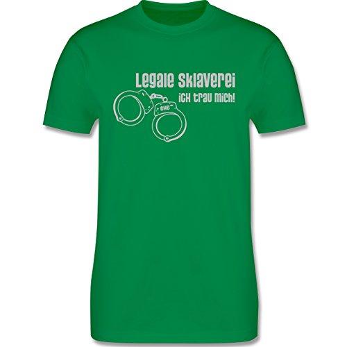 JGA Junggesellenabschied - Legale Sklaverei - Ich traue mich - Herren Premium T-Shirt Grün