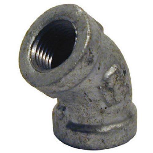Pannext Fittings Corp G-l4507 galvanisé 3/10,2 cm DE 45 ° Coude Egal