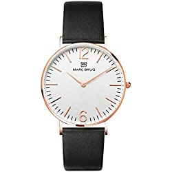 Marc Brüg Men's Minimalist Watch Chelsea 41 Rosegold