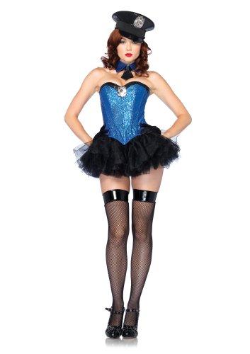 olizei Kostüm, Größe S, blau (Leg Avenue Polizei Kostüm)