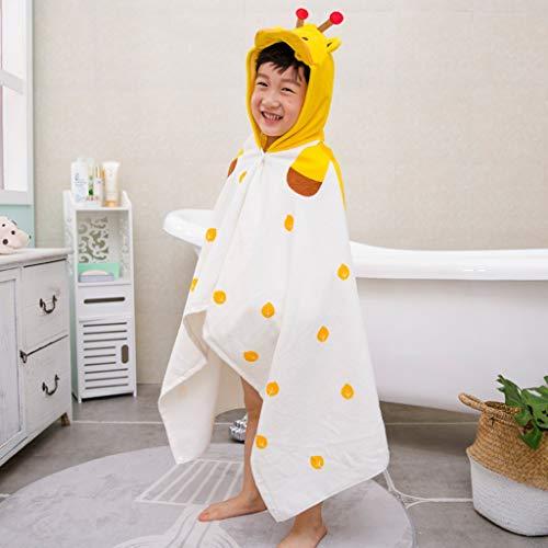 Tier Kapuze Baby-Handtuch Waschlappen Ultra Soft und Extra Large, 100% Baumwolle Bademantel for Dusche Geschenk for Jungen oder Mädchen (2-6 Jahre) (Color : Giraffe)