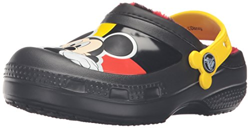 Crocs CC Mickey Lined Clog (Toddler/Little Kid), Black, 10/11 M US Little Kid (Lotus Girl Black)