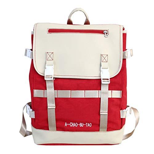 ontrastfarbe Reißverschluss Laptop Schulrucksack Handtaschen Umhängetasche Daypack Rucksack Schultaschen Backpack Tagesrucksack Reiserucksack für Schule Reise Arbeit ()