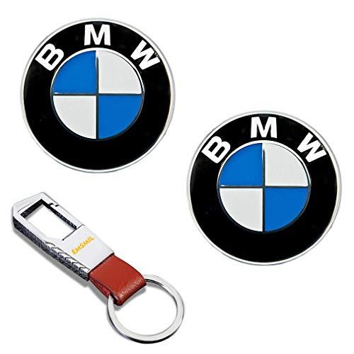 2 Stück 82 mm Emblem Haube Logo Vorne Hinten Motorhaube Kofferraum 1 3 5 7 Serie M3 M5 X5 X6 E30 E36 E46 für BMW Series -