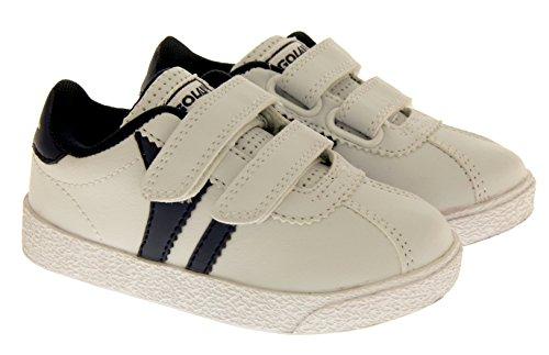Gola Amhurst ATA328 Chaussures de Sport Occasionnels Garçons Blanc et Bleu