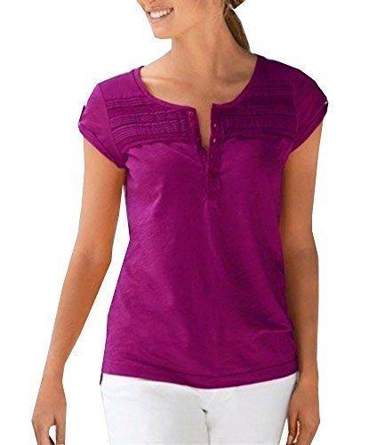 Shirt Henleyshirt Damen von Eddie Bauer Beere