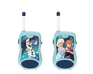 Disney- Frozen-Par De Walkie-Talkies, Rango De 100 Metros, Juguete Infantil (Lexibook TW12FZ), Color Azul (
