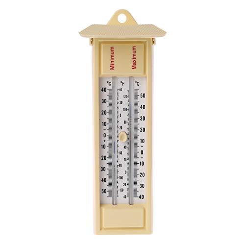 Qiman Maximales Und Minimales Thermometer - Indoor Outdoor Garden Gewächshaus-Wandtemperaturüberwachung -40 Bis 50 ℃ / -40 Bis 120