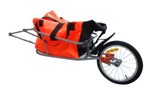 Fahrradanhänger Lastenanhänger Einrad Anhänger Transport Fahrrad mit 90L Tasche