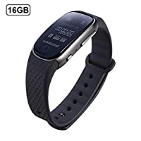 Sliveal 8GB/16GB Digital Voice Recorder Watch, Wrist Watch Band Dictaphone, Portable Bracelet Recorder Apply To Meeting, Lecture, Conversation, Interview