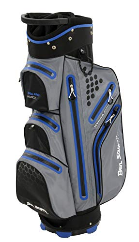 Ben Sayers Unisex Hydra Pro Wasserdicht Cartbag, Grau/Blau, 21,6cm