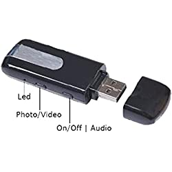 SAFETYNET Spy Pendrive Hidden Camera with Audio/Video Recording, 16GB Card Support