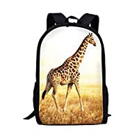 Showudesigns Animal Backpacks for Kids Boys Elementary School Bag Bookbags Lightweight for Teens Girls