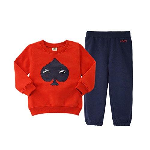 Felpe-per-Bambini-Manica-Lunga-Tops-Pantaloni-Vestiti-Casuali-dei-Bambini-Abbigliamento-Vine
