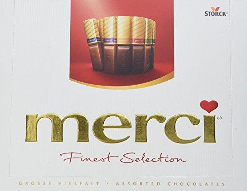 merci Finest Selection -große Vielfalt - das Dankeschön von Herzen - erlesene Schokoladen-Spezialitäten - 5er Pack (5 x 250g Packung)