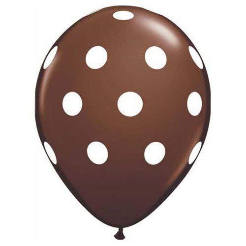 s 950076Allround Schokolade Braun Polka Dots, 30,5cm weiß ()