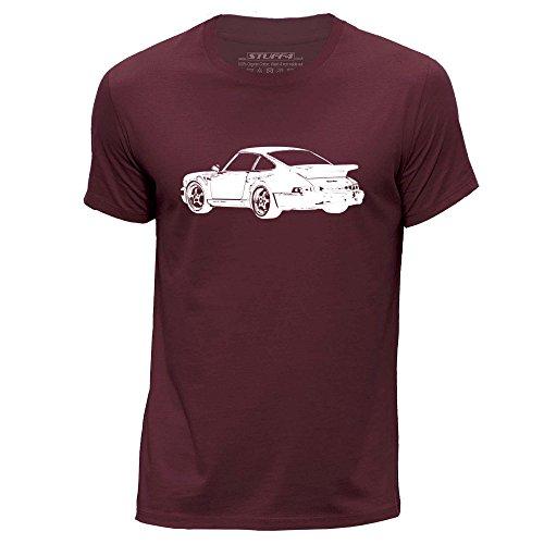 Stuff4® Herren/groß (L)/Burgund/Rundhals T-Shirt/Schablone Auto-Kunst/911 Turbo 82 (Burgund Christmas Stockings)