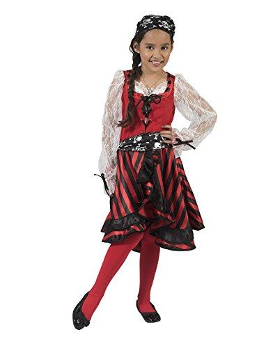 Pierro´s Kostüm Piratin Matilda Kind Mädchenkostüm Größe 128 (Matilda Kostüm)