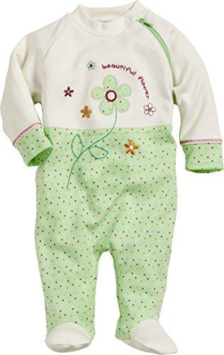 Schnizler Baby - Mädchen Schlafstrampler Schlafanzug Flower, Oeko Tex Standard 100, Gr. 68, Grün (grün 29)