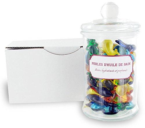 100-perles-dhuile-de-bain-dans-un-bocal-en-verre-animaux