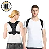 Eocean Posture Corrector for Men&Women, Adjustable Clavicle Back Brace with 2 Soft Armpit