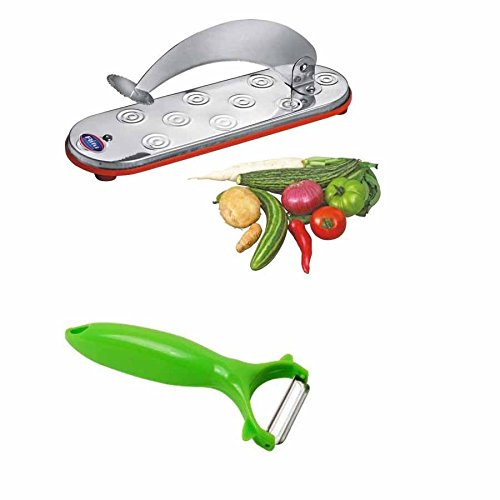 Noor Store Kitchen Tools Vegetable Fruit Cutter Chopper Chopping Board & Manual Vegatable/Fruit Peeler ( Combo)  available at amazon for Rs.276