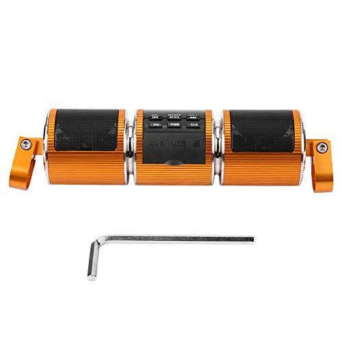 Ebtools altoparlante stereo bluetooth universale del manubrio del motociclo altoparlante stereo mp3 usb/carta di tf ip4 impermeabile(d'oro)