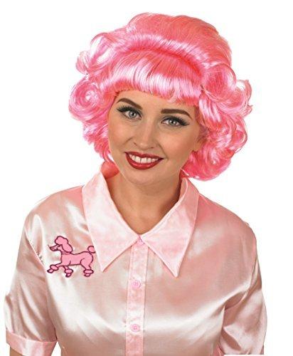Damen 1950s 50s Shorts Pink Locken Perücke Film Kostüm Kleid Outfit Zubehör