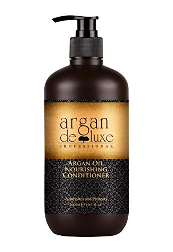 Arganöl Conditioner in Friseur-Qualität ✔ stark pflegend ✔ Geschmeidigkeit, Glanz, toller Duft ✔ Argan DeLuxe, 300ml - Haar Shampoo Conditioner