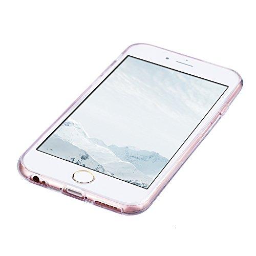 iphone 6 / 6s Hülle, E-Lush TPU Soft Silikon Tasche Transparent Schale Clear Klar Hanytasche für iphone 6 / 6s (4.7 Zoll) Durchsichtig Rückschale Ultra Slim Thin Dünne Schutzhülle Weiche Flexibel Hand Lila rote Mandala