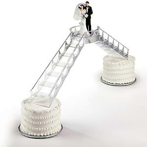 Wilton Pont et escaliers cristal pour gâteau de mariage Transparent ...