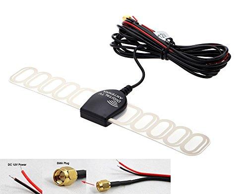 Eximtrade Auto Analog Fernseher Digital TV DVBT ATSC ISDB Radio FM Antenne Signal Verstärker für Auto Stereo (SMA) -