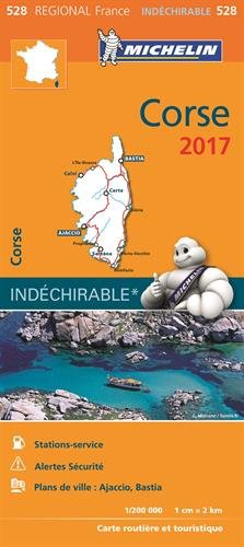 Carte Corse Michelin 2017