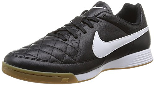 Nike Tiempo Genio IC Herren Fußballschuhe, Schwarz (Black/White 010), 38.5 EU
