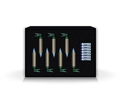 KRINNER Lumix Deluxe Mini Erweiterungs-Set cashmere IR, 7 cashmerefarbene, kabellose LED-Christbaumkerzen mit Batterien in warm / weißen Licht 75355