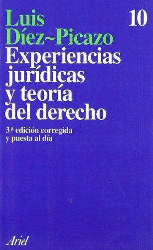 Experiencias jurídicas y teoría del Derecho (Ariel)