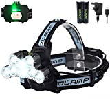 Head Torch 6 Modes 10000LM 9LED 90� Rotating Rechargeable Waterproof Running Head Torch,Helmet Head Torch for Fishing,Hiking,Camping&DIY