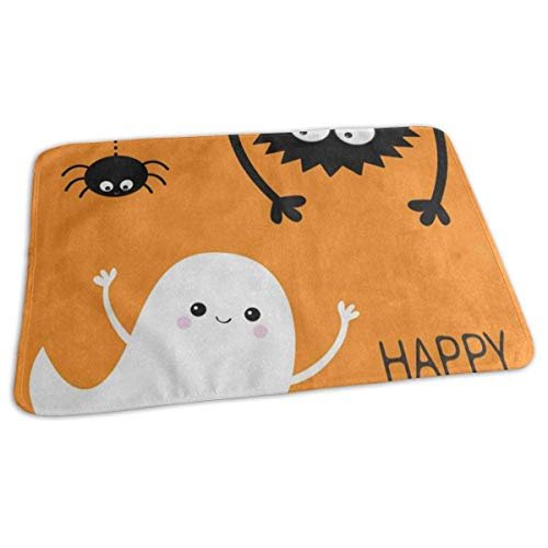 Voxpkrs Changing Pad Happy Halloween Ghost Bat Baby Diaper Urine Pad Mat Fabulous Toddler Children Pee Pads Sheet for Any Places for Home Travel Bed Play Stroller Crib Car (Happy Niedlich Ghost Halloween)