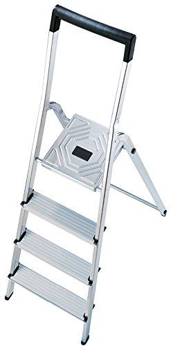 Hailo 8140-401 Escalera de tijera aluminio (4 peldaños)