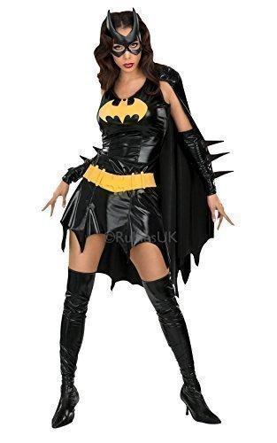 Rubies - Verkleidung Batgirl Damen Kostüm für Erwachsene Superheld Outfit - Schwarz, XS - 34/36 (Batgirl Damen Kostüm)