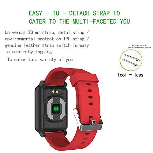 AXELEL Fitness Tracker HR, Heart Rate Monitor, EKG, PPG Waterproof Smart Fitness Band mit Step Counter, Calorie Counter, Pedometer Watch for Kids Women and Men,Red