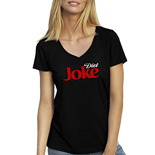 diet-joke-fun-coke-cola-schwarz-t-shirt-fur-damen-mit-v-ausschnitt-xx-large