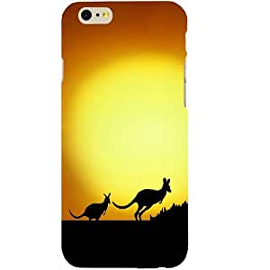 Casotec Kangroo Design Hard Back Case Cover for Apple iPhone SE