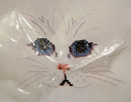 CAT'S FACE COUNTED CROSS STITCH KIT - WEARABLES CLOTHING DESIGN by Golden Bee (Wearable-kit)