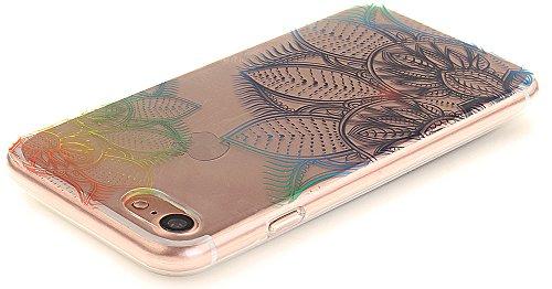 Nnopbeclik [Coque Iphone 7 Silicone ]Transparente élégant Style de Impression Couleur Motif Doux Backcover Case Housse pour Iphone 7 Coque Apple (4.7 Pouce) Protection Antiglisse Anti-Scratch Etui - [ dentelle1