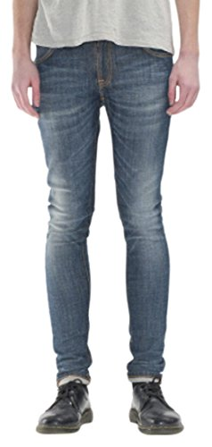 Nudie Jeans Skinny Lin, Jeans Unisex Adulto, Azul (Pacific Surface), W30