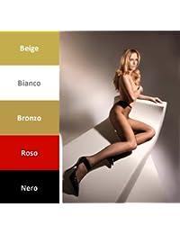 Netzstrumpfhose in 5 Farben wählbar, Schwarz, Visone, Bronze, Weiß, Beige